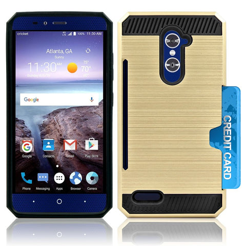 ZTE GRAND X MAX 2 / Z988 / ZMAX PRO / KIRK HYBRID SHOCKPROOF TOUGH CASE COVER GOLD