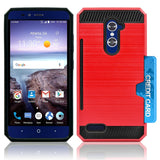ZTE GRAND X MAX 2 / Z988 / ZMAX PRO / KIRK HYBRID SHOCKPROOF TOUGH CASE COVER RED