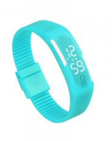 Unisex Rubber LED Watch Date Sports Bracelet Digital Wrist Watch