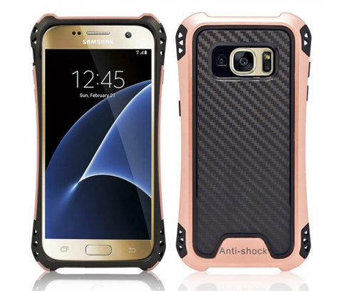 SAMSUNG GALAXY S7 EDGE HYBRID BUMPER SHOCKPROOF TOUGH CASE COVER ROSE GOLD