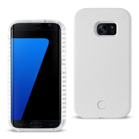 SAMSUNG GALAXY S7 EDGE LED SELFIE LIGHT UP ILLUMINATED CASE IN WHITE