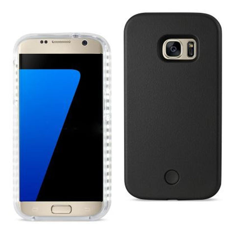 SAMSUNG GALAXY S7 LED SELFIE LIGHT UP ILLUMINATED CASE IN BLACK