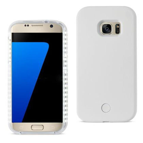 SAMSUNG GALAXY S7 LED SELFIE LIGHT UP ILLUMINATED CASE IN WHITE