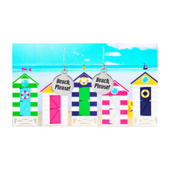 Beach Please Quote Earrings