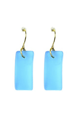 Bright Aqua Cabana Seaglass Earrings