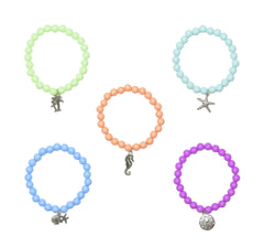 Tropical Beach Charm Beaded Bracelets-Choose Your Dresign