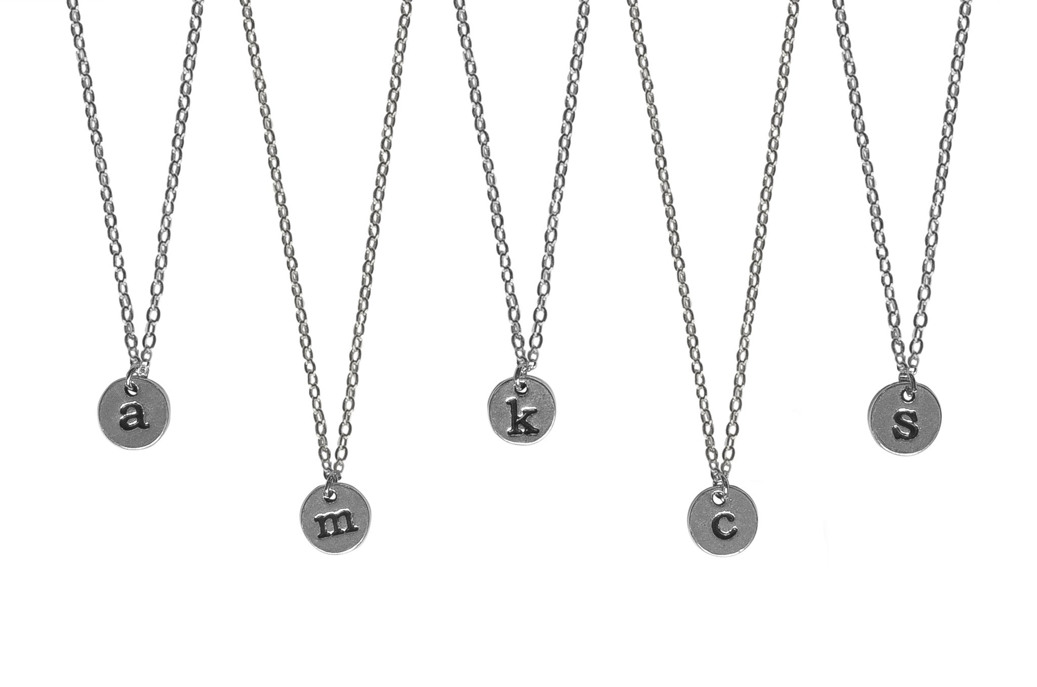 Custom monogram initial pendant necklace heather dzubinski custom monogram initial pendant necklace aloadofball Gallery