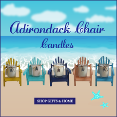 Luxury Miniature Coral Adirondack Chair Candle-Comes with a free Necklace Charm