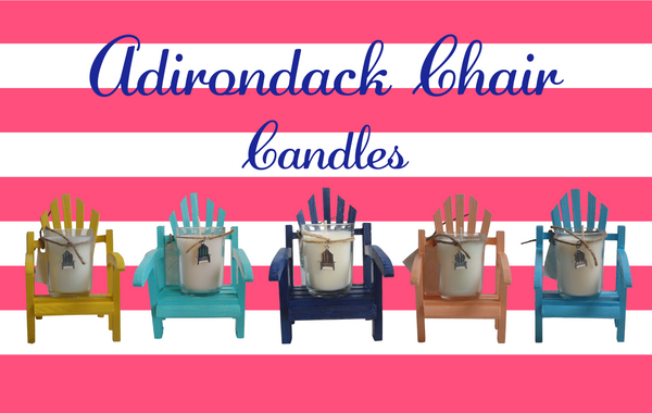 Luxury Miniature Aqua Adirondack Chair Candle-Comes with a free Necklace Charm-Design Your Ow