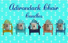 Luxury Miniature Aqua Adirondack Chair Candle-Comes with a free Necklace Charm