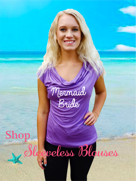 Beach Honeymoon Cowlneck Blouse-Choose your Color and Quote