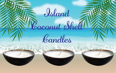 Luxury Coconut Shell Candle-Comes with a free Necklace Charm