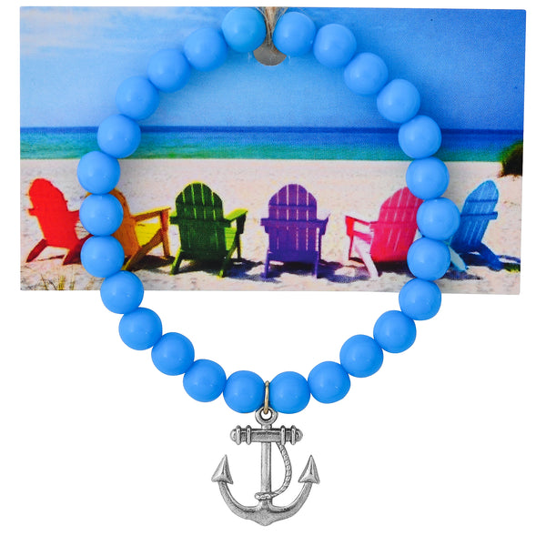 Nautical Anchor Beaded Bracelet