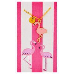 Monogram Pink Flamingo Necklaces