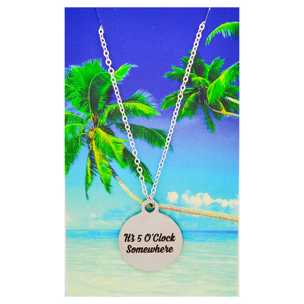 It's 5' O Clock Somewhere Beach Necklaces
