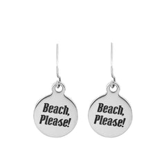 Beach Quote Earrings-Choose Your Quote
