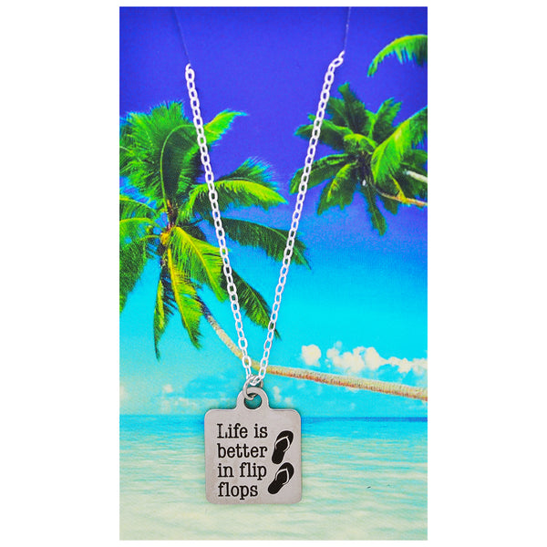 Life is Better in Flip Flops Necklaces