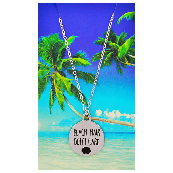 Beach Hair Don't Care Necklaces
