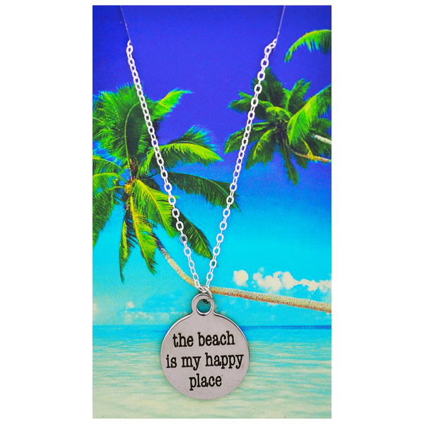 The Beach is My Happy Place Necklaces