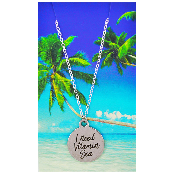 I Need Vitamin Sea Necklaces