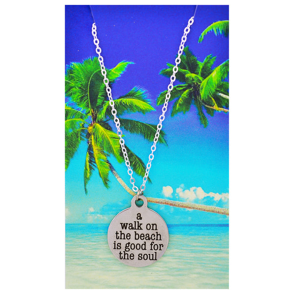 A Walk on the Beach is Good for the Soul Necklaces