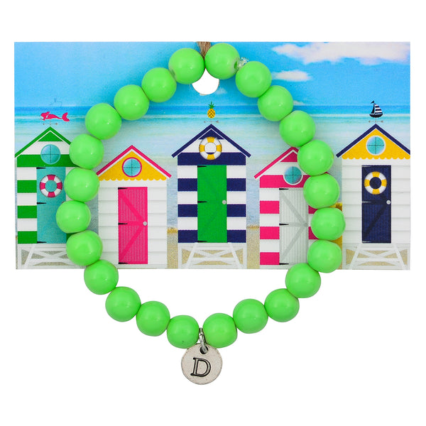Monogram Lime Daiquiri Beaded Statement Bracelet