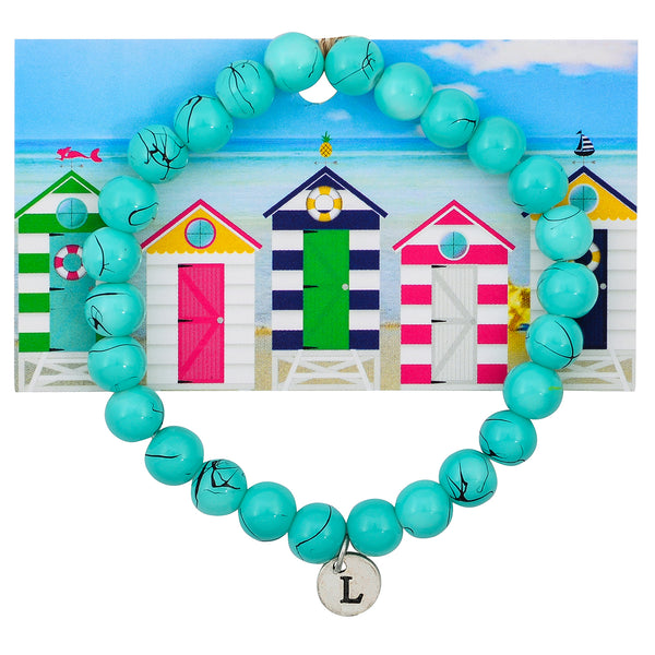 Monogram Turquoise Seas Beaded Statement Bracelet