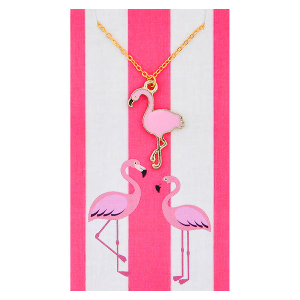 Light Pink Flamingo Necklaces