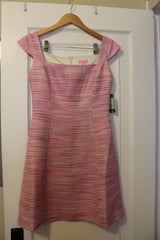 Lilly Pulitzer York Dress Pink Pop Barnard Boucle -Size 4 REG $278 NWT-SOLD OUT