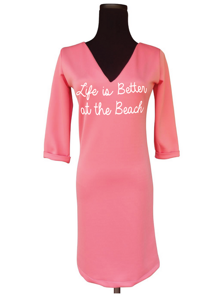 Chic Pink Shift Dress
