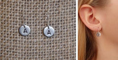 Tiny Monogram Earrings