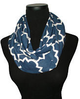 Nautical Navy Quartrefoil Navy Blue Infinity Scarf-Circle, Loop, Eternity All Seasons Scarf