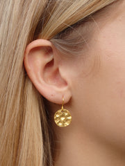 Modern Hammered Disc Earrings