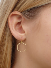 Chic Hexagon Earrings