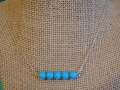 Aqua Bar Beaded Necklace
