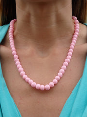 Pink Flamingo Beaded Necklace