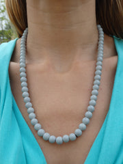 Gray Beaded Necklace