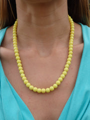 Sunshine Yellow Statement Necklace