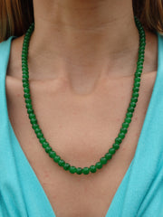 Island Leaves Beaded Necklace