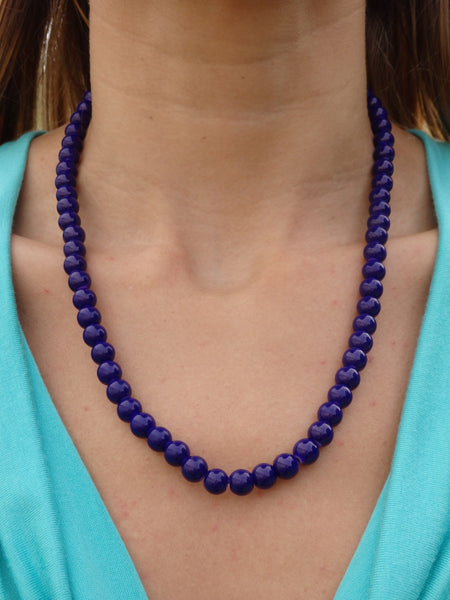 Nautical Navy Beaded Necklace