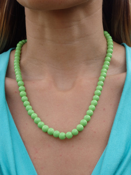 Lime Daiquiri Beaded Necklace