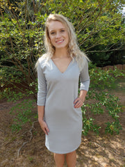 Beach Bridesmaid Light Gray Shift Dress