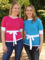 Design Your Own Ribbon Tie Sweater-6 Color Choices