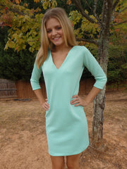 Beach Bridesmaid Mint Green Shift Dress