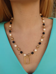 Royal Beaded Statement Necklace-1 LEFT