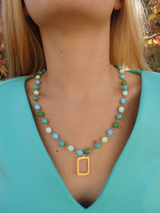 The Hamptons Beaded Statement Necklace-1 LEFT