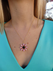 Victoria Flower Swarovski Rhinestone Necklace