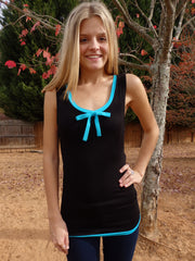 Tiffany Ribbon Tie Tank Top