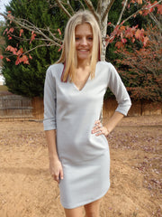 Light Gray Shift Dress
