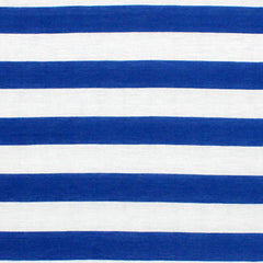 Cabana Royal Blue Stripe Infinity Scarf-Circle, Loop, Eternity All Seasons Scarf